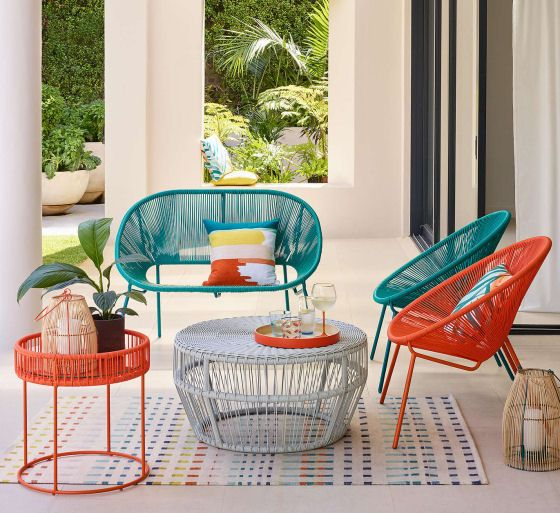 Colourful garden furniture for contemporary outside spaces .