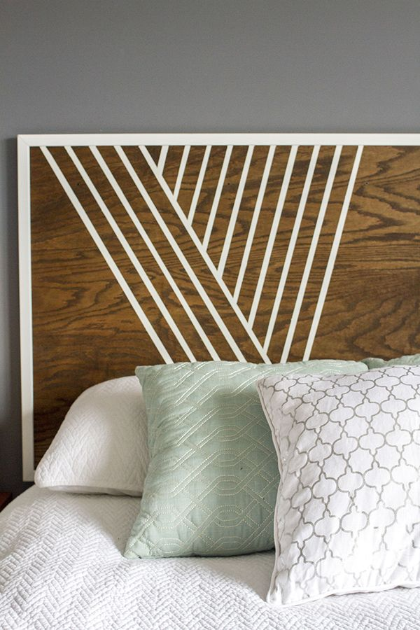 Create Your Own Headboard Using Birch Wood, Trim and Paint   Cheap .