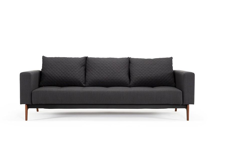 Cassius Quilted Wood Sleeper Sofa | Sofas and Sectionals - Modern .
