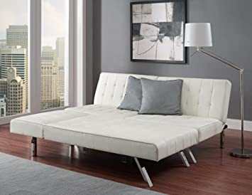 Amazon.com: Modern Sofa Bed Sleeper Faux Leather Convertible Sofa .