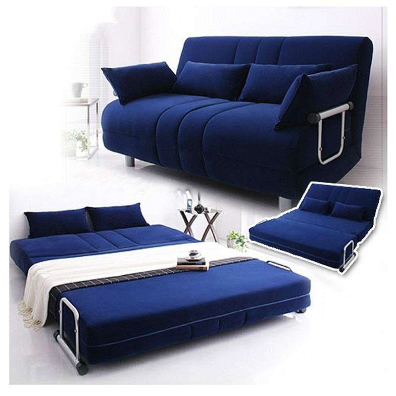 Louis Fashion Modern large sized apartment folding sofa bed 1.5 .