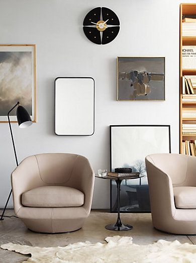 7 Savvy Favorites: Swivel Accent Chairs For A Modern Living Room .