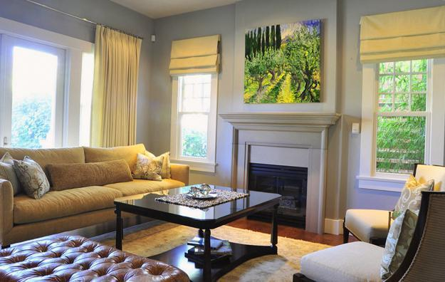 25 Roman Shades and Curtain Ideas to Harmonize Modern Living Rooms .