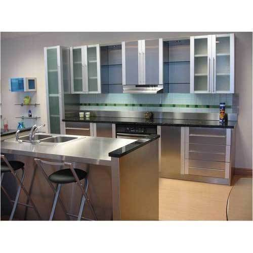 Silver Stainless Steel Modular Kitchen Cabinets, Rs 300 /kilogram .