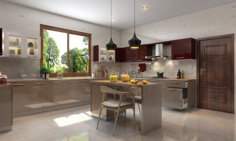 5 Beautiful Modular Kitchens With Large Windows | Small space .