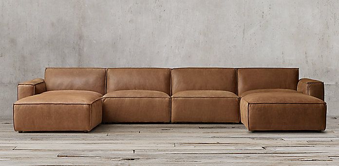 Como Leather Modular Collection | RH | Modular couch, Living room .