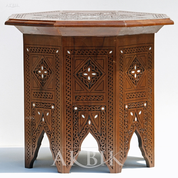 Syrian side table with mother of pearl.Mother Of Pearl Furniture I .