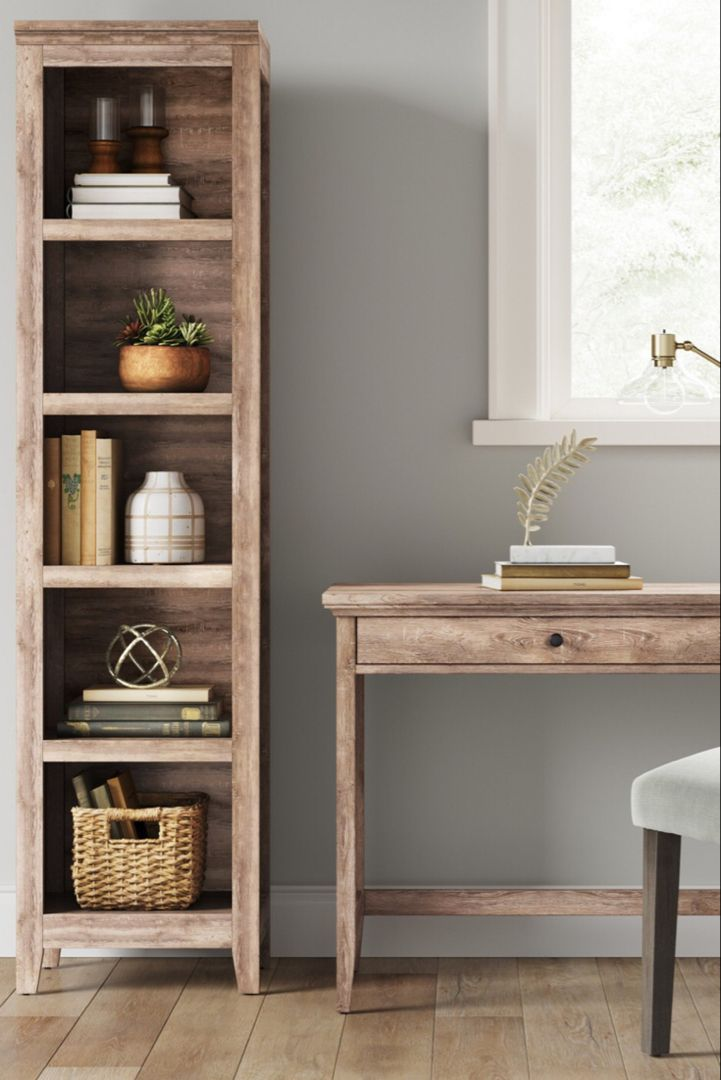 lovely narrow bookcase for anywhere in the house, great colour for .