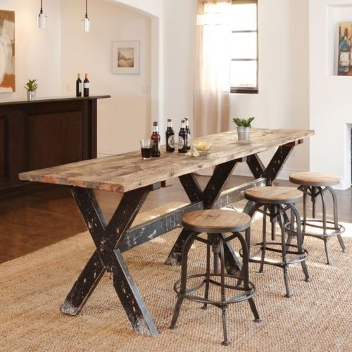 Gathering Table Pub Bar Counter Height Dining Room Kitchen .