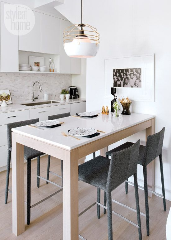 Small space: Simple serene townhome   Dining room design, Counter .