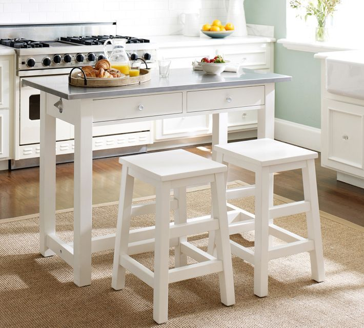 Balboa Counter-Height Table & Stool 3-Piece Dining Set, White .