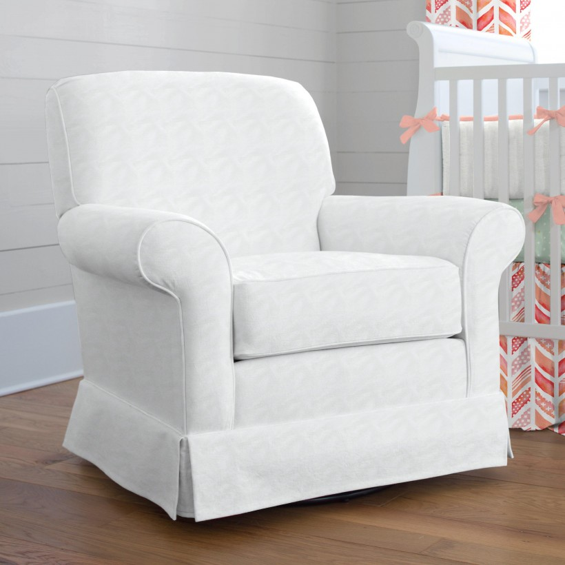 Furniture: Best White Glider Rocker With Awesome Bonded Leather .