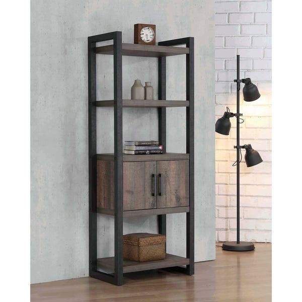 Shop Rory Weathered Oak Bookcase - Overstock - 276601