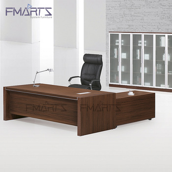 Contemporary Style Executive Luxury Black Office Desk Wooden .