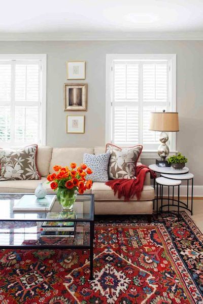 living room with persian rug | Transitional living room with .