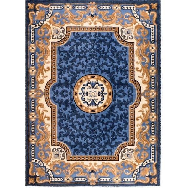 Shop Persian Rugs 2034 Blue Oriental Area Rug 8x10 - 8' x 10' - On .