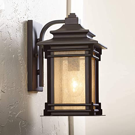 """Hickory Point 12"""" High Bronze Outdoor Light Mission Craftsman ."""