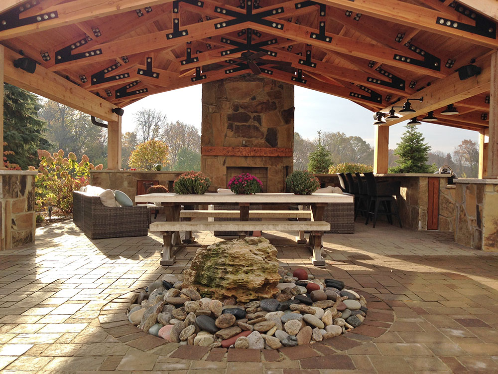Outdoor Living Space – Stone Center of India