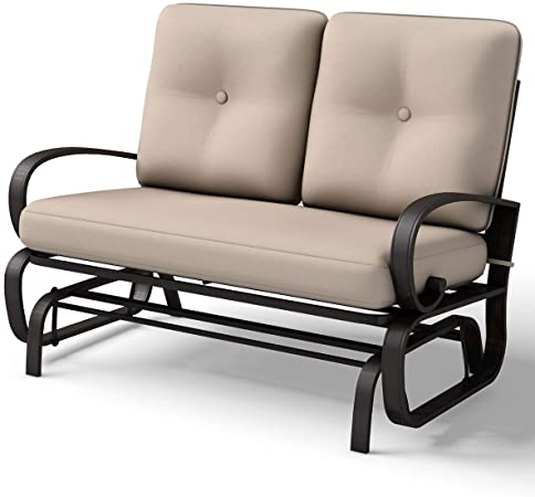 Amazon.com : Giantex Loveseat Outdoor Patio Rocking Glider .