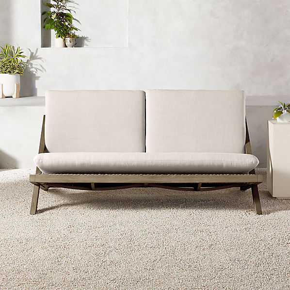 Lecco Teak Outdoor Loveseat | C