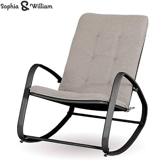 Amazon.com: Sophia and William Outdoor Patio Rocking Chair Padded .