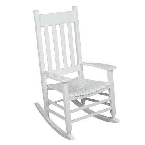 Amazon.com : Outdoor Rocking Chair White The Solid Hardwood Chairs .