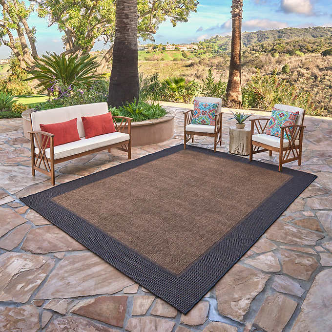 Studio by Brown Jordan Indoor/Outdoor Rug, Toscana Bord