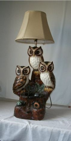 8 Best owl lamp images   White painting, Owl table lamp, Garage .
