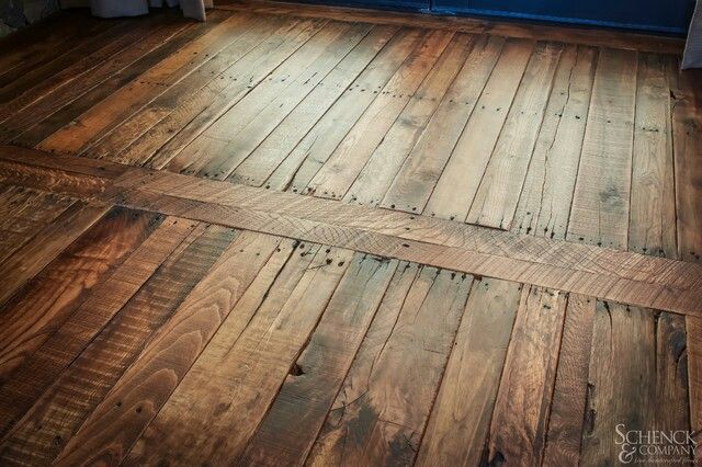 Pallet Flooring- this is what I want to do in my hall bathroom .