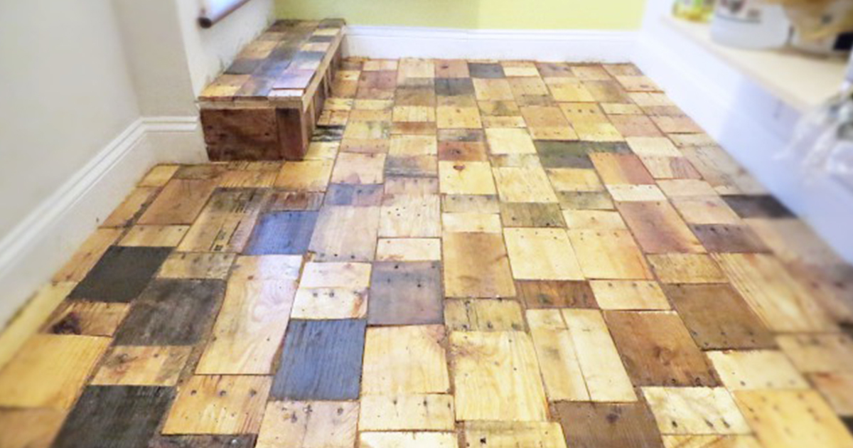 Our DIY Pallet-Wood Floor Cost Only $100 | Bored Pan