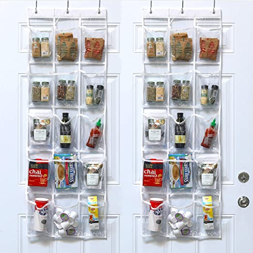 Amazon.com: 2 Pack - SimpleHouseware Crystal Clear Over The Door .