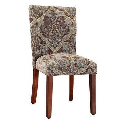 Blue & Brown Paisley Parson Chairs Set of 2 | Pier