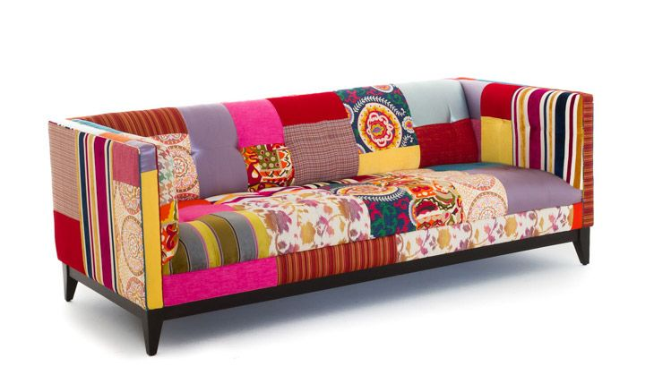 Stowe Patchwork Sofa | Funky home decor, Home dec