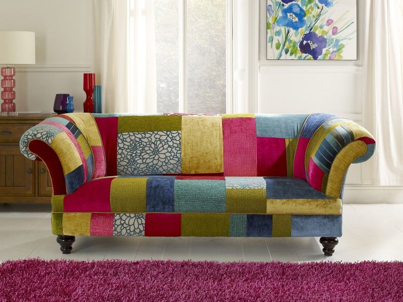 Patchwork Sofa | Patchwork sofa, Leather sofa bed, Sofa colo