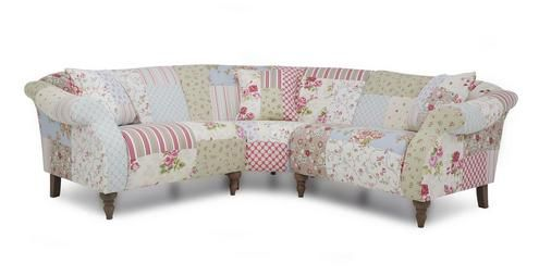 Patchwork floral sofa from DFS in the UK. Doll brand. The .