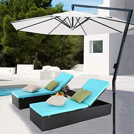 Amazon.com: Furnimy 3 Pieces Outdoor Patio Chaise Lounge Chair .