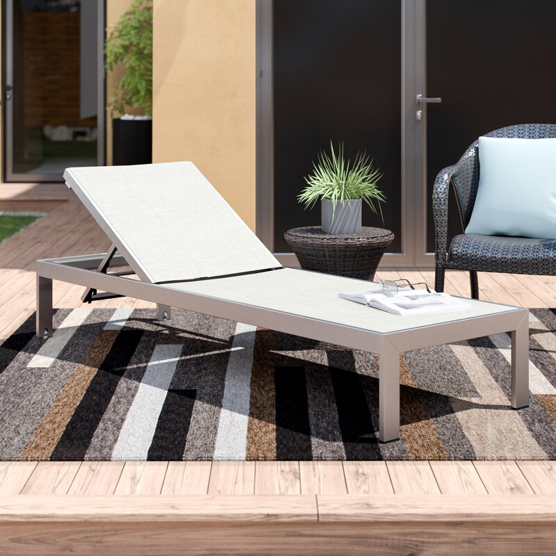 Orren Ellis Contemporary Outdoor Patio Reclining Chaise Lounge .