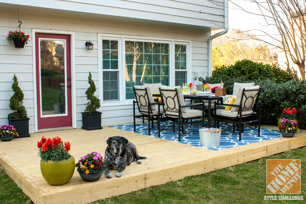 Small Patio Decorating Ideas by Kelly of View Along the W