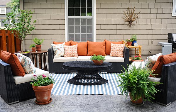 Patio Decorating Ideas: A Modern Chic Patio Refresh - The Home Dep