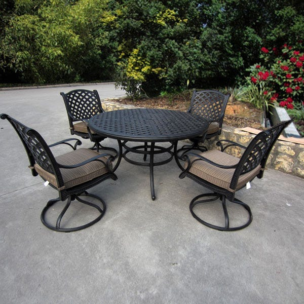 Castle Rock 5 Piece Patio Dining Set | Weekends Only Furnitu