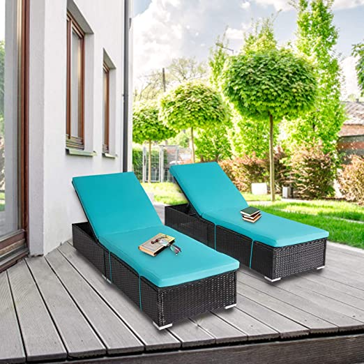 Amazon.com: 2-Pieces All-Weather Adjustable Outdoor Patio Lounge .