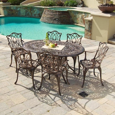 Best Selling Home Decor Hatian 7-Piece Copper Frame Patio Set at .