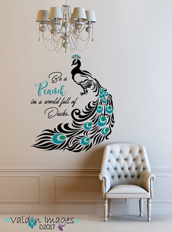 Love it, simple and elegant | Peacock wall art, Peacock painting .