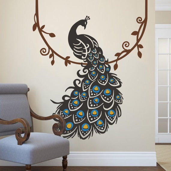 Peacock Wall Decal Vinyl Wall Stickers Art Graphics Home | Et