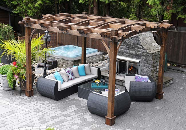 Arched Pergola Kits 10x12 - Outdoor Living Tod