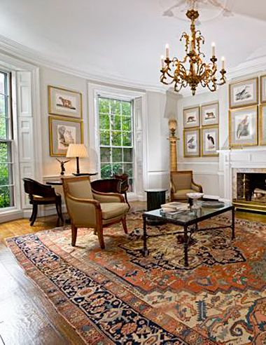 Oriental Rug Room Settings Gallery: Antique Serapi in Townhouse .