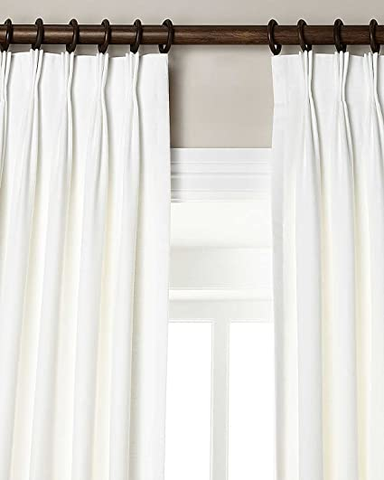 Amazon.com: Silk n Drapes and More 100% Linen Pinch Pleated Lined .