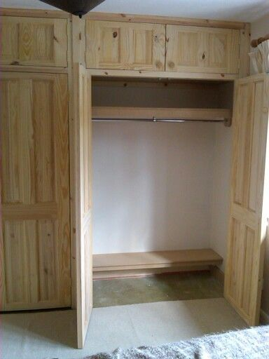 Pine door fronts with mdf fitted interior | Pine wardrobe .