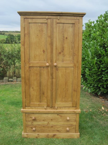 Reclaimed Pine Wardrobe With Drawers | Made to Measu