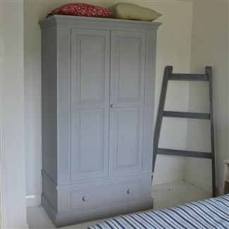 Antique Pine French Grey Hand Painted Wardrobe | West Egg Online .